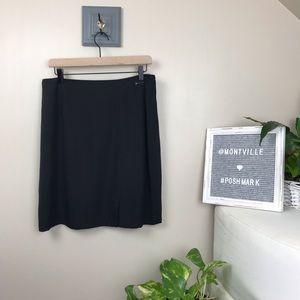 NWT Tommy Bahama Black Silk Skirt Size 12